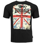 Lonsdale Premium Black HADLEY Union Jack T-Shirt Boxing Heritage 100% Cotton
