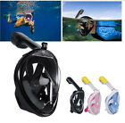 UK Full Face Snorkeling Mask Scuba Diving Swimming Snorkel Breather Gopro S-XL