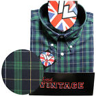 Warrior UK England Button Down Shirt MATLOCK Slim-Fit Skinhead Mod Retro