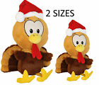 Tommy Turkey Squeaky Interactive Christmas Xmas Festive Dog Toy Small Jumbo