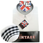 Warrior UK England Button Down Shirt ACE-FACE Slim-Fit Skinhead Mod Retro