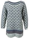 Marks and Spencer M&S  Indigo soft fairisle jumper knitted tunic sizes 8 -  16