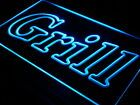 "16""x12"" i440-b Grill OPEN Bar Pub BBQ NEW Wall Decor LED Neon Signs"
