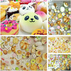 10/20/30 Pcs Jumbo Medium Mini Random Squishy Soft Panda/Bread/Cake Phone Straps