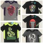 Size 5 Boy shirt sport basketball football skull graphic tee glow in dark NEW