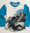 Boys shirt dinosaur t-Rex Aqua long sleeve tee size 10 14 16 Brothers