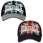 Lonsdale Baseball Cap Kappe Mütze Hat Union Jack Flag or Black White One Size