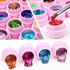 Beauty Nail Gel Polish Long Lasting Glitter Sequin Nail Art Nail Gel 10 Colors
