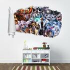 Yu-Gi-Oh Yugi 3D Torn Hole Ripped Wall Sticker Decal Decor A