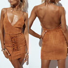 Women Sexy Strapped Backless Lace Up Bandage Evening Party Cocktail Prom Dress K