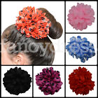 Beautiful Large Spanish Flamenco Flower Hair Clip Plain Polka Dots Feria NEW