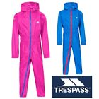Trespass Button II Kids Waterproof All In One Rain Suit with Hood & Breathable