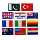 National Flag Embroidery 3D Badge Patch Military Armband Velcro Tactical Patches