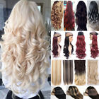 100% NEW One Piece Clip In Hair Extensions Long Straight Wavy Hair Extension FT6