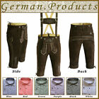 German Bavarian Oktoberfest Trachten Real Leather Mens Short Lederhosen Outfit