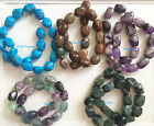 assorted Jasper Agate Amethyst 15x20mm Free Form Nugget Beads 16in. Strand