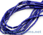 16in. long strand 4x13mm rectangle beads  BLUE LAPIS LAZULI