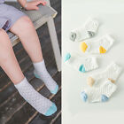 5pairs Baby Girls Boys Mesh Cotton Sock Breathable Kids Ankle Socks 1-10 Year