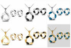 Sale Women Clavicle Chain Silver Gold White Alloy Crystal Earrings Necklace