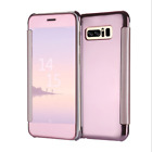 Luxury Mirror Smart Clear View Wallet Flip Case Cover For Samsung Apple iPhone