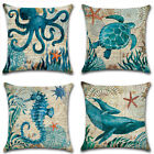 Ocean Beach Sea Linen Pillow Case Car Sofa Throw Cushion Cover Home office Decor