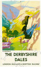 Vintage LMS Dovedale Peak District Derbyshire Railway Poster A4/A3/A2/A1 Print