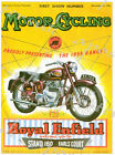 Vintage Royal Enfield Motorcycle Advertisement Poster A4 A3 A2 A1 Print