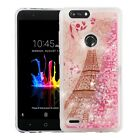 For ZTE Blade Z Max Liquid Glitter Quicksand Hard Case Phone Cover Accessory