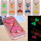 Glow In The Dark Dynamic Liquid Bling Glitter Quicksand Case Cover For iPhone