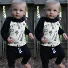 US Stock Toddler Baby Boy Clothes Tops Hoodie T-shirt+Harem Pants Outfits 0-24M