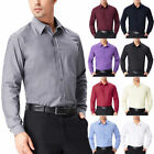 Fashion Men's Long Sleeve Slim Fit Dress Shirt Casual Formal Button T-Shirts NEW