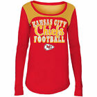 Kansas City Chiefs 5Th & Ocean By New Era 17 Girls Glitter Football  T-Shirt