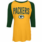 Green Bay Packers 17 Girls Sequin 3 4 Sleeve Raglan T-Shirt
