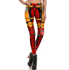 Women 3D Printed Pants Ladies Sports Marvel Deadpool Cosplay Yoga Legging S-XL