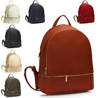 Medium Women Men Backpack Faux Leather Daypack College Back To School Bookbags