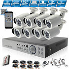 CCTV Kit 8 Channel HD 1080P 2.4MP Night Vision Outdoor DVR Home Security System