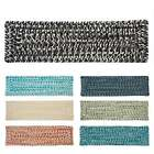 Vibrant Tweed Reversible Braided Stair Tread (8 Inch x 28 Inch)