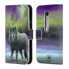 OFFICIAL ANNE STOKES WOLVES LEATHER BOOK WALLET CASE COVER FOR MOTOROLA PHONES