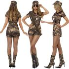 Army Girl Sexy Costume from Smiffys Ladies Soldier Fancy Dress Costume