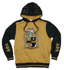 ALPHA PHI ALPHA FRATERNITY PULLOVER HOODIE JACKET ICE COLD 1906 BLACK GOLD HOODY