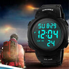 Men's Digital Sports Watch LED Screen Large Face Military Waterproof Watches image