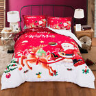 Christmas Single King Queen Doona Quilt Duvet Cover Set Xmas Bed Covers Set New
