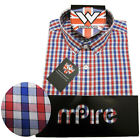 Warrior UK England Button Down Shirt FAWKES Slim-Fit Skinhead Mod SMALL only