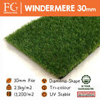 Windermere 30mm Artificial Grass Astro Turf Fake Lawn - FREE Delivery!