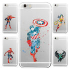 SUPERHERO for iPhone Movie Fan Art Marvel Comic Book Character Clear Case Cover
