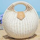 Women's Summer Lady's Stylish Shell Shape Straw Tote Handbags Rattan Beach Bags1