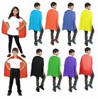 Childrens Super Hero Deluxe Satin Capes Boys Girls Fancy Dress Book Week Costume