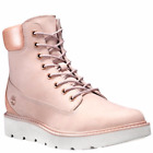 TIMBERLAND WOMEN'S KENNISTON 6-INCH LACE-UP BOOTS PINK NUBUCK A1KF1662