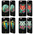 HEAD CASE DESIGNS FLORA FAUNA BLACK LEATHER BACK CASE FOR APPLE iPHONE PHONES