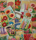French Botanical Lithographs Original 1920's Flower Seed Packet Labels